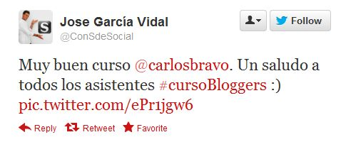 "Opinion ""Curso para bloggers"" Barna"