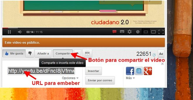 Incluir un video de Youtube en tu blog